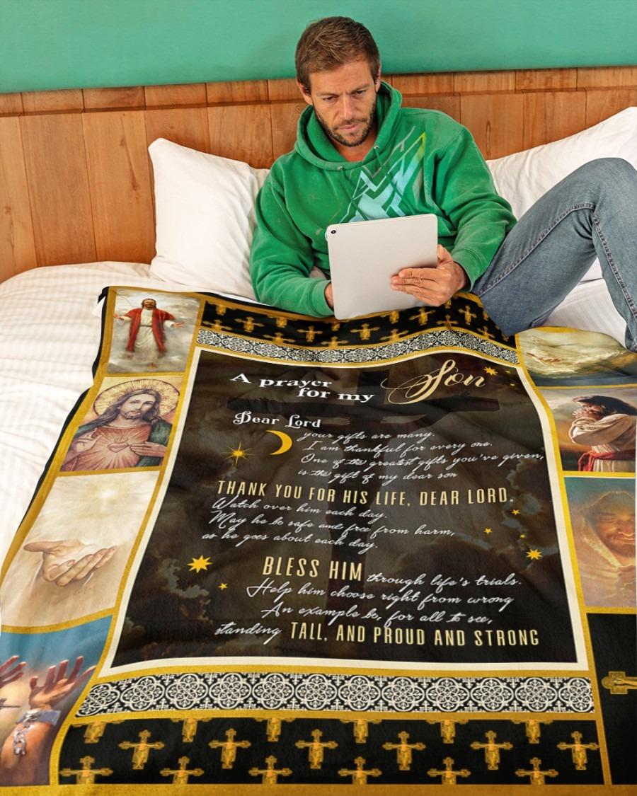 Jesus A prayer for my son blanket4