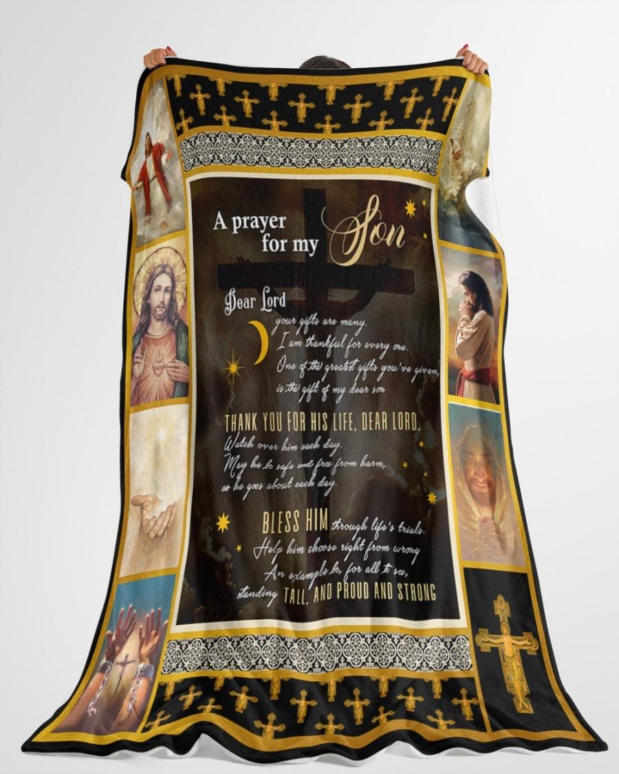 Jesus A prayer for my son blanket3