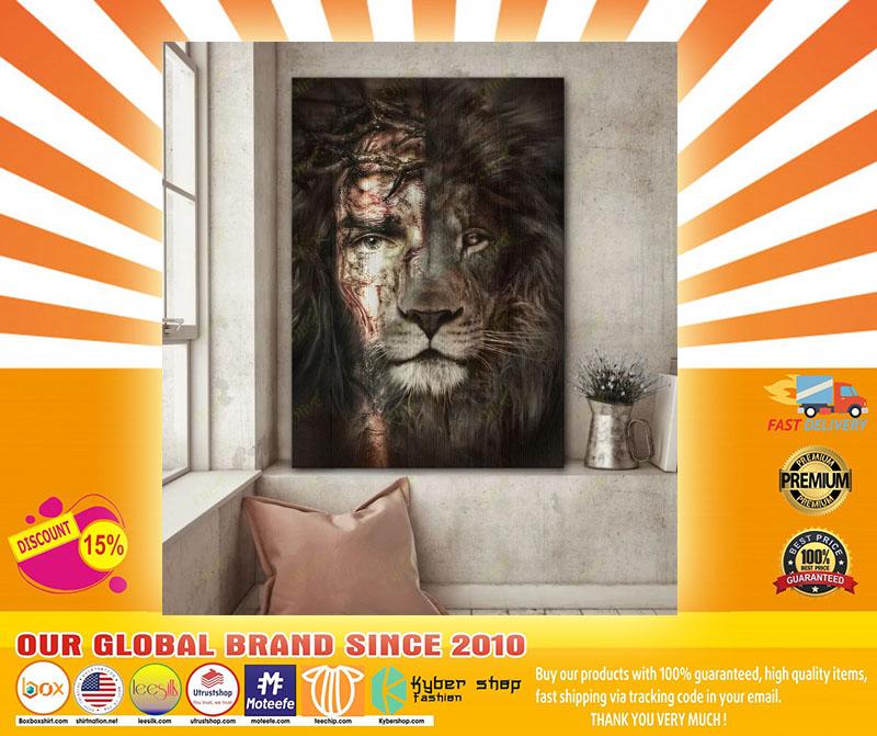 Jesus and Lion canvas4