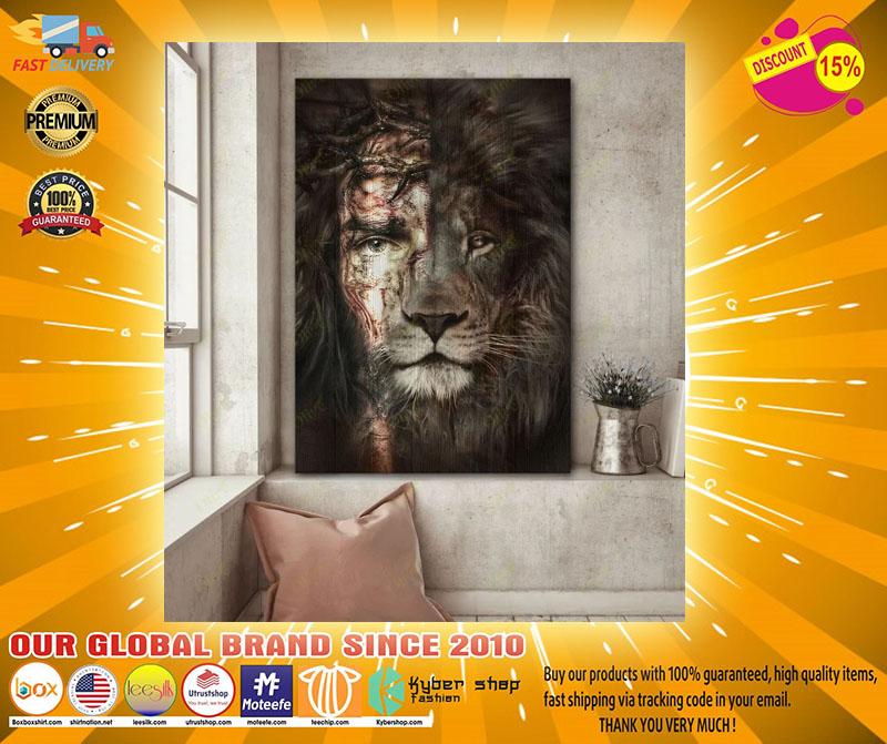 Jesus and Lion canvas2