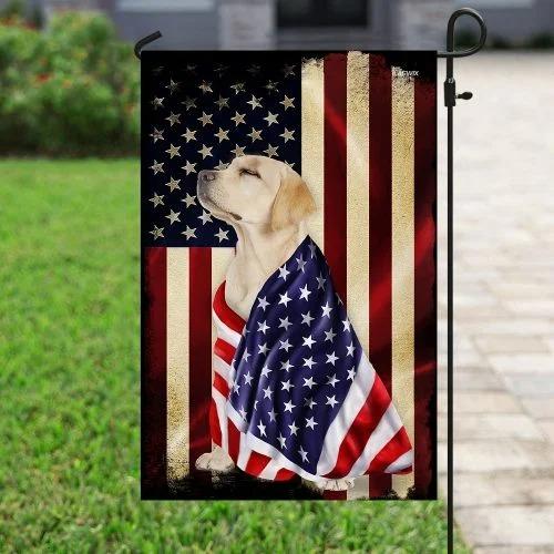 Labrador retriever American flag4