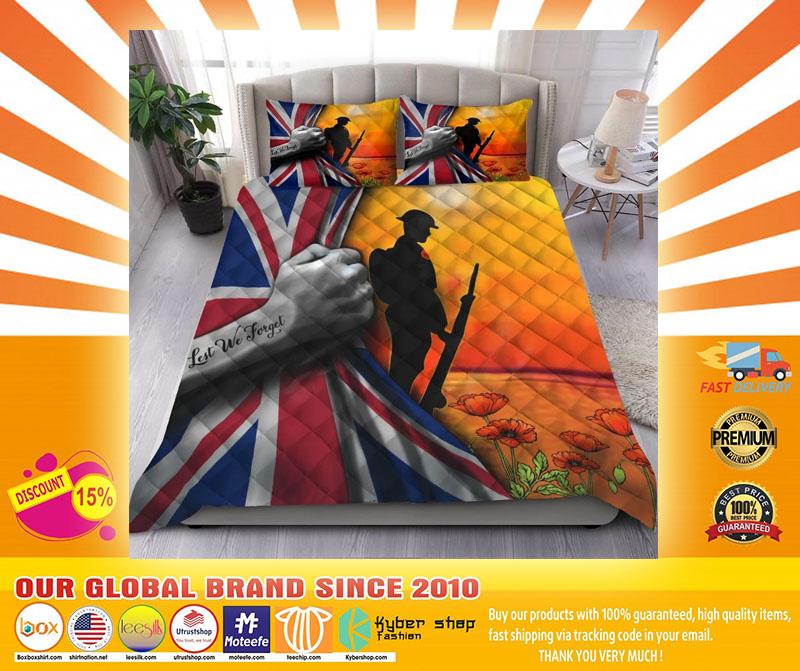 Lest we forget UK veteran bedding set4