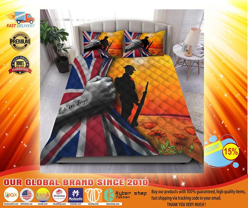 Lest we forget UK veteran bedding set3