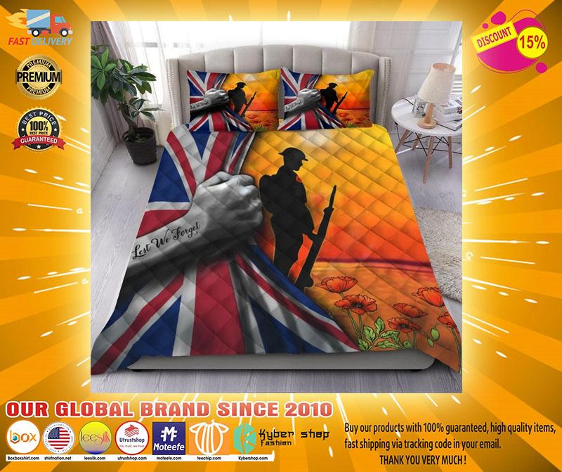 Lest we forget UK veteran bedding set2