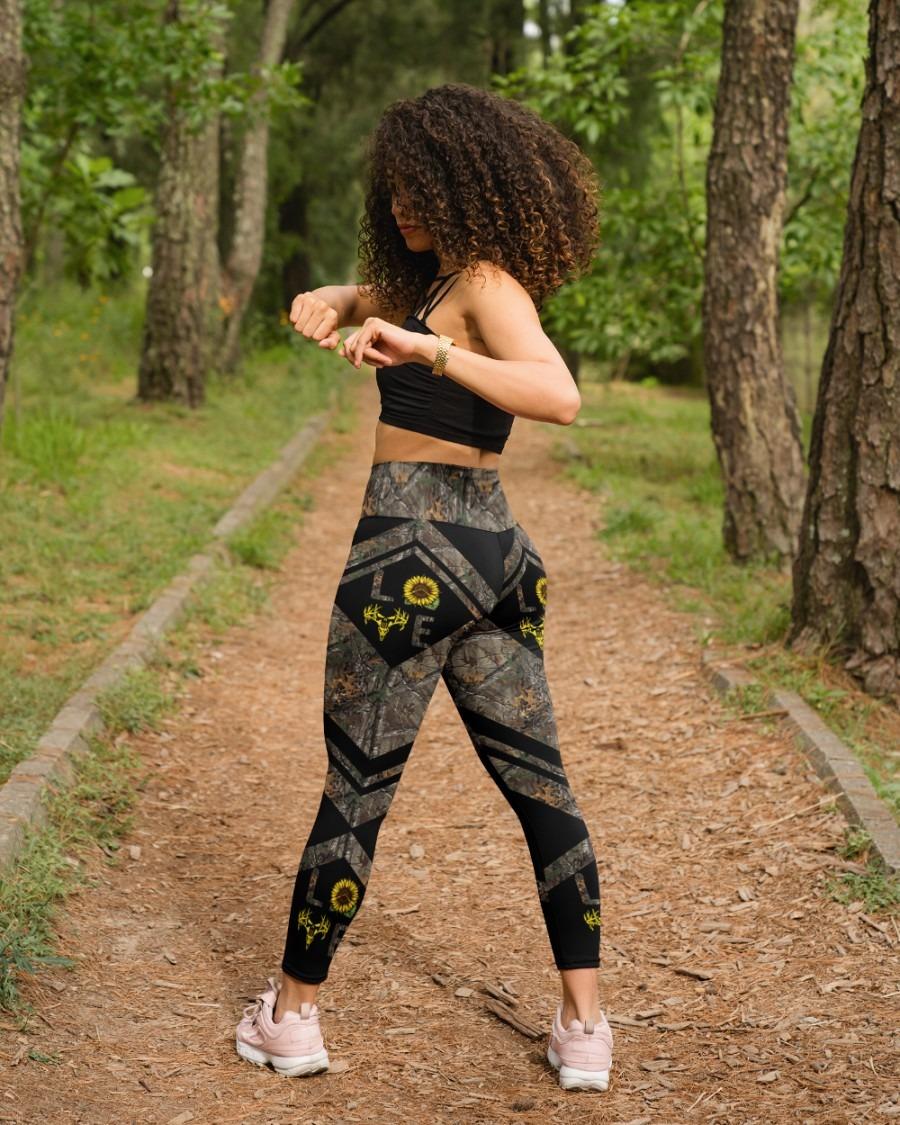 Love hunting sunflower legging3