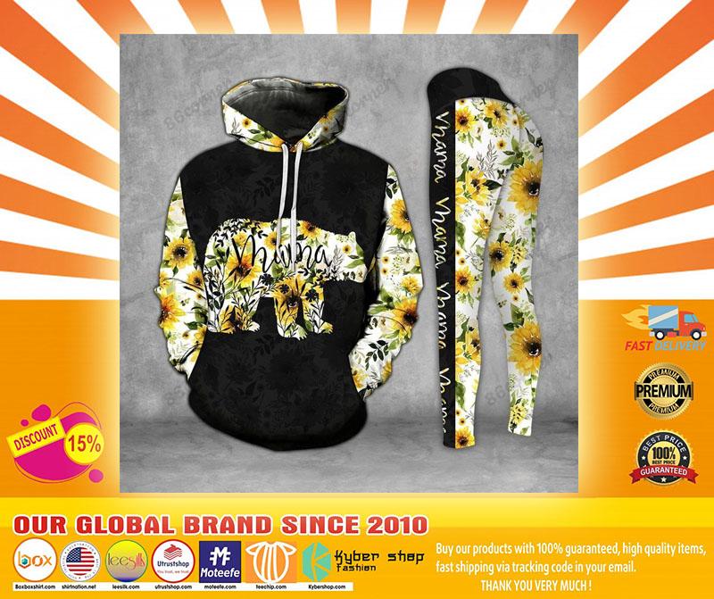 Mama bear Sunflower 3D hoodie and legging4