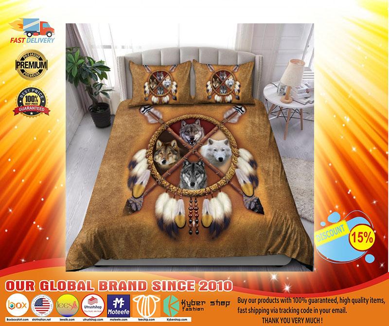 Native american wolf bedding set4
