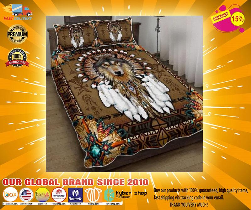 Native american wolf spirit bedding set3