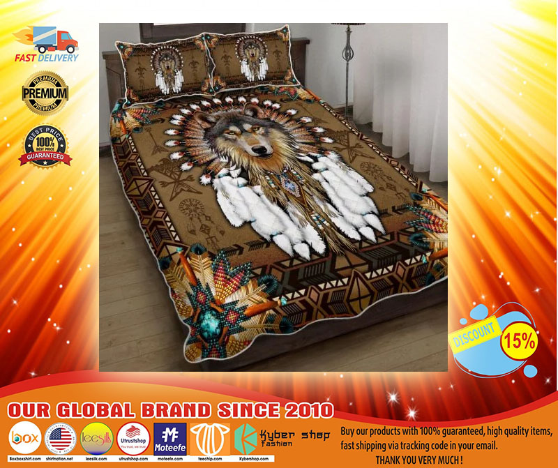 Native american wolf spirit bedding set3 1