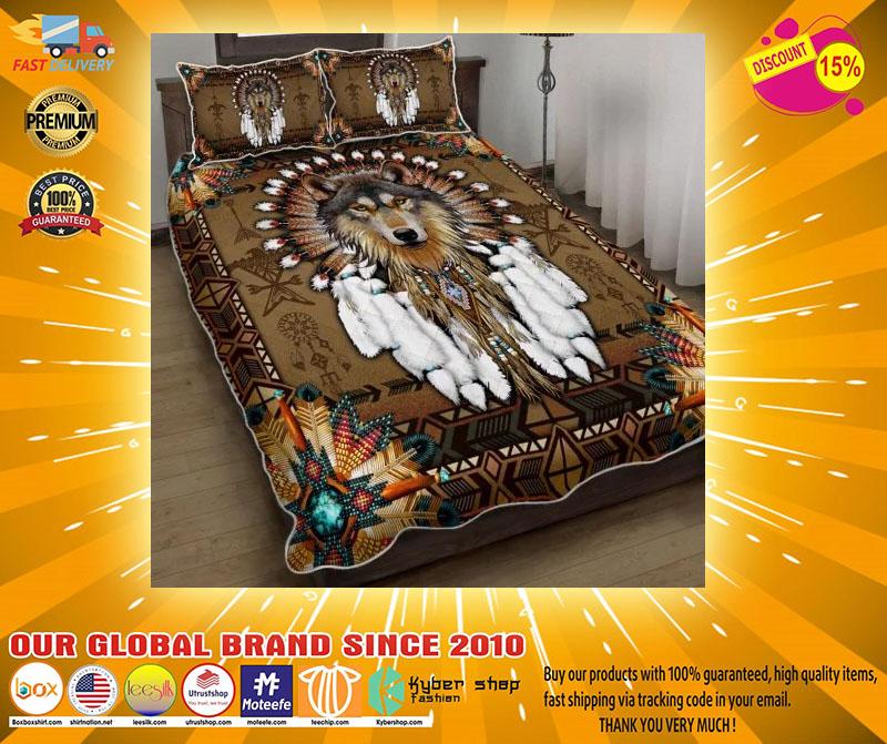Native American wolf spirit bedding set4 1