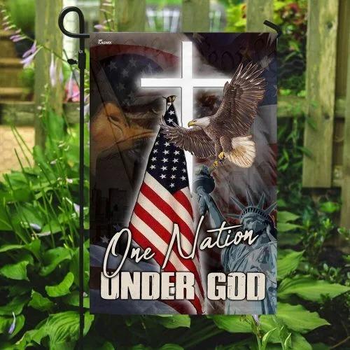 One nation under god eagle American flag3