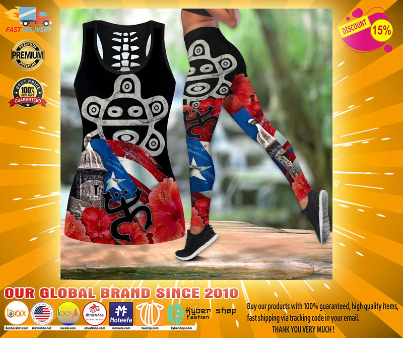 Puerto rice sol taino outfit legging and tank top4
