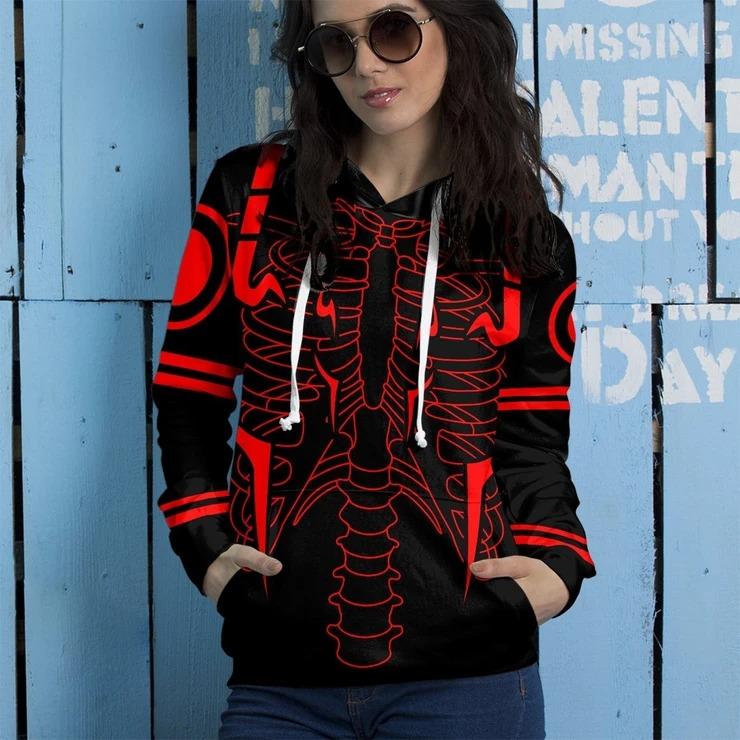 Rib Sukuna 3d over print hoodie3