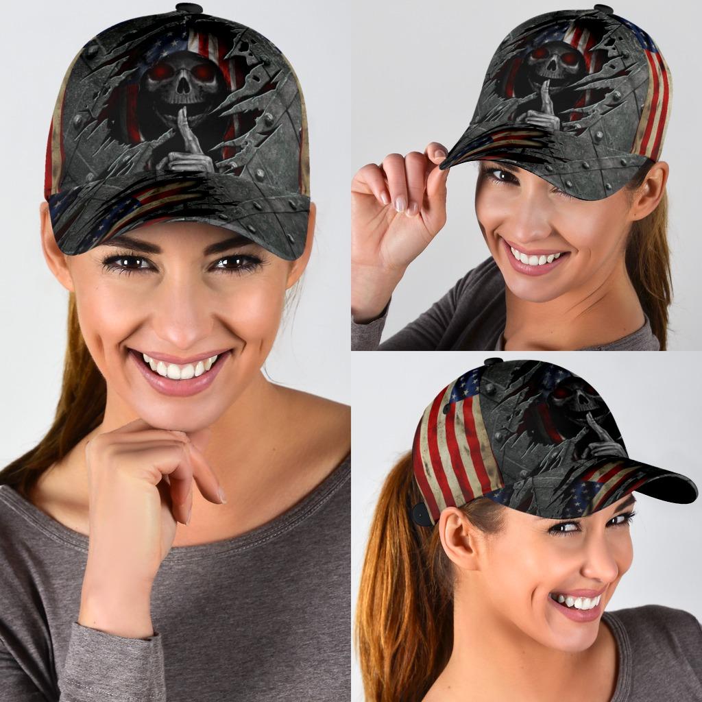 Skull american flag cap4