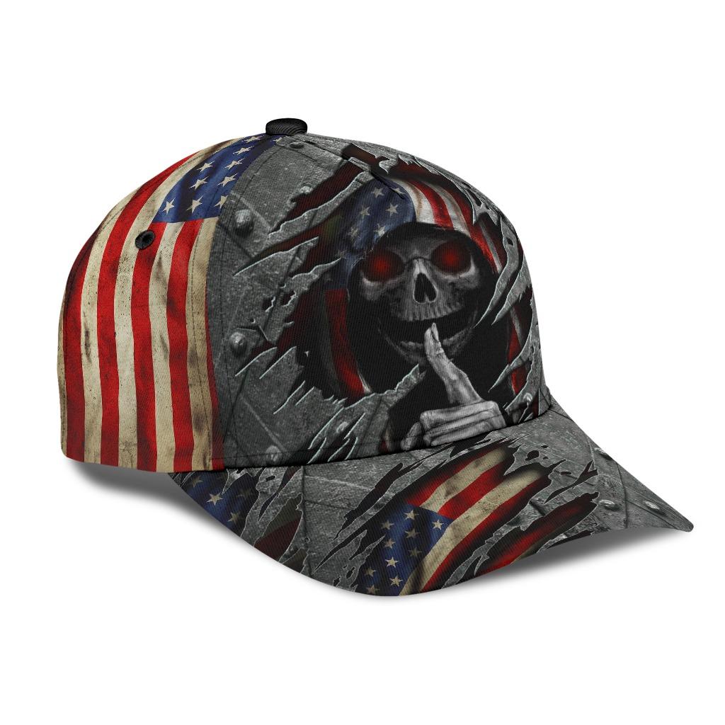 Skull american flag cap2 2
