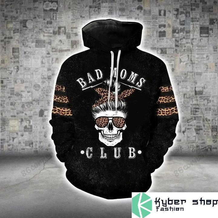 Skull bad moms 3D hoodie and legging2