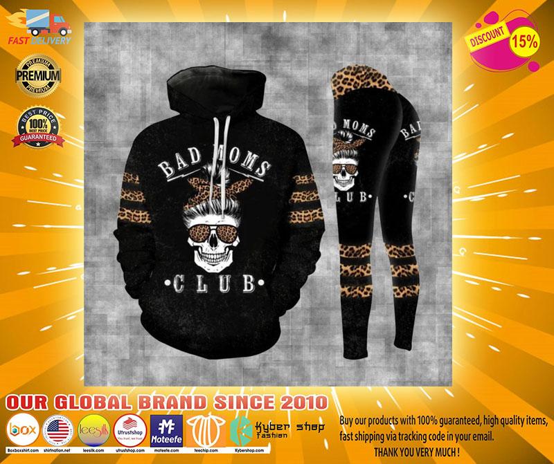 Skull bad moms dark club 3D hoodie and legging4