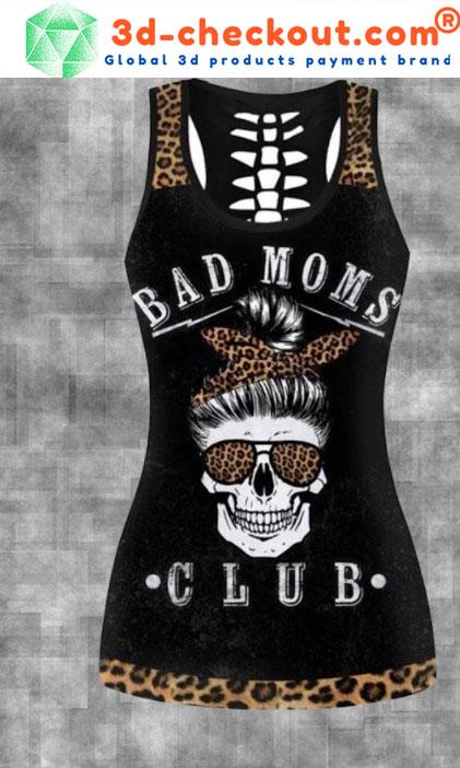 Skull bad moms dark club 3D hoodie and legging3