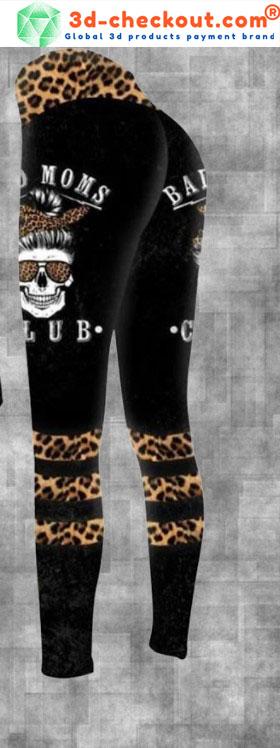 Skull bad moms dark club 3D hoodie and legging2