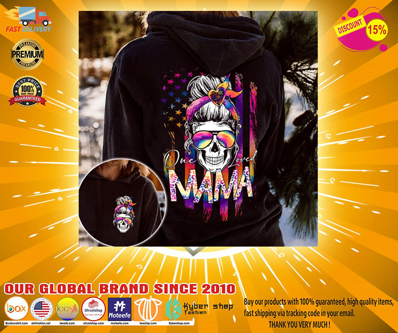 Skull colorful one loved mama 3d hoodie2