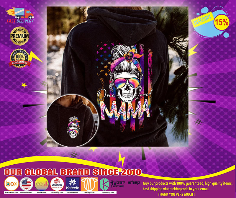 Skull colorful one loved mama 3d hoodie1