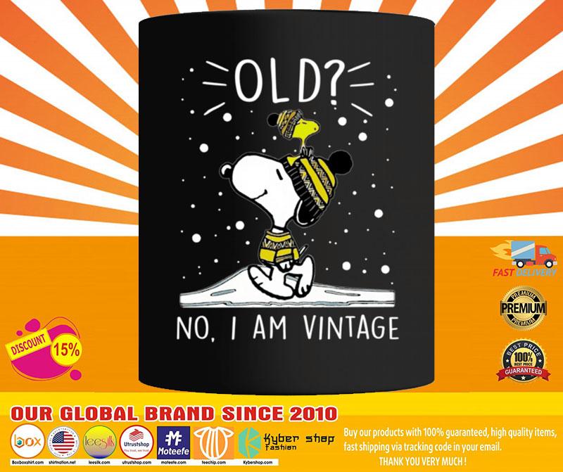 Snoopy and Woodstock old no I am vintage mug4