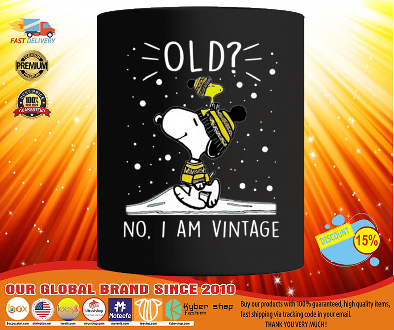 Snoopy and Woodstock old no I am vintage mug3