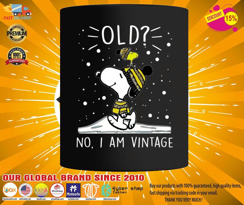 Snoopy and Woodstock old no I am vintage mug2