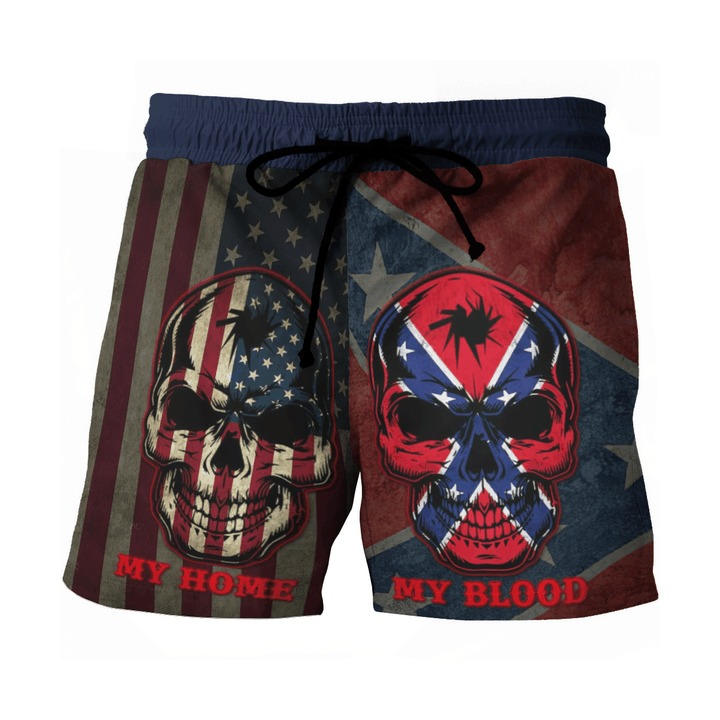 Southern American flag My home my blood pant3