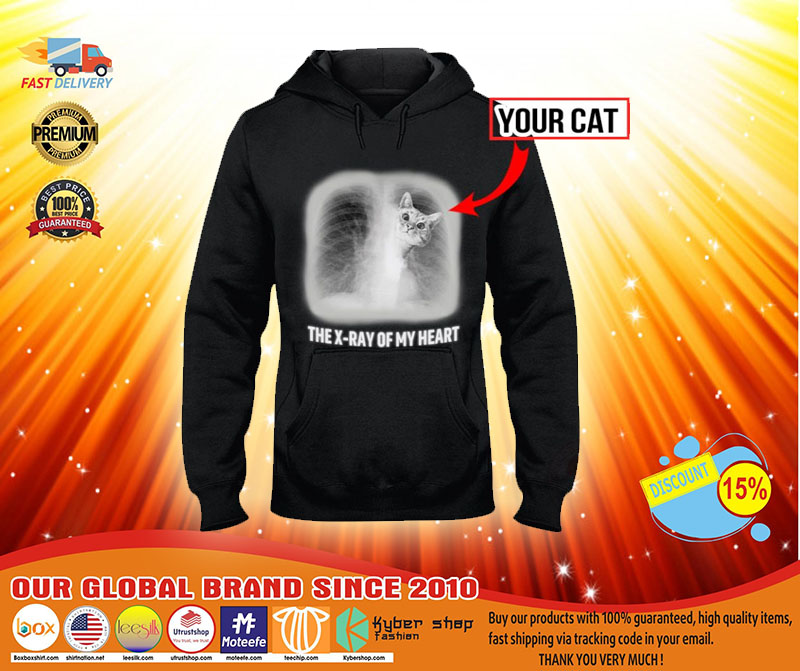 The x ray of my heart personalized cat 3D hoodie3