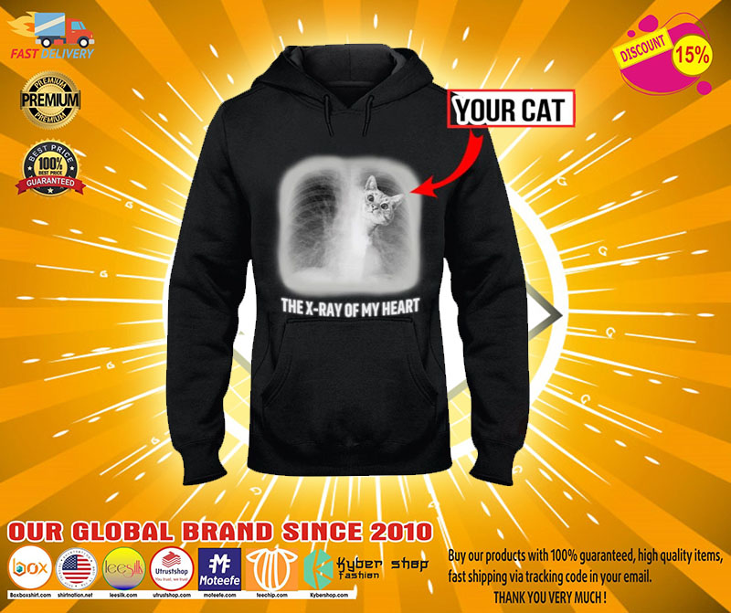 The x ray of my heart personalized cat 3D hoodie2
