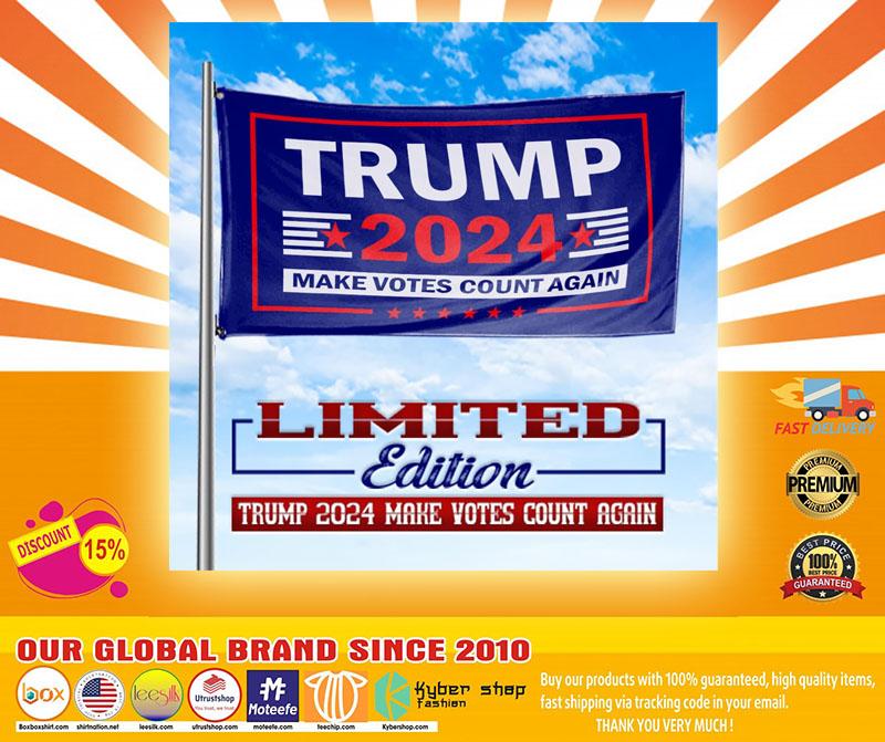Trump 2020 make vote count again flag4