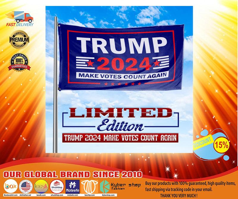 Trump 2020 make vote count again flag3
