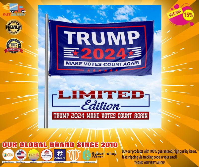 Trump 2020 make vote count again flag2