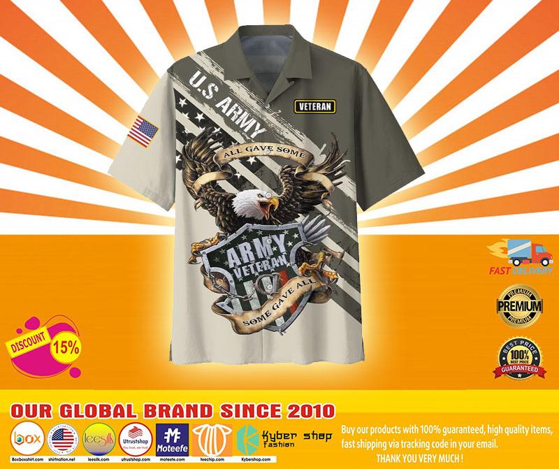 Veteran eagle US army all gave somehawaiian shirt4
