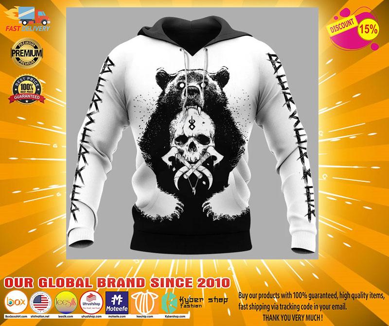 Viking and bear 3D hoodie31
