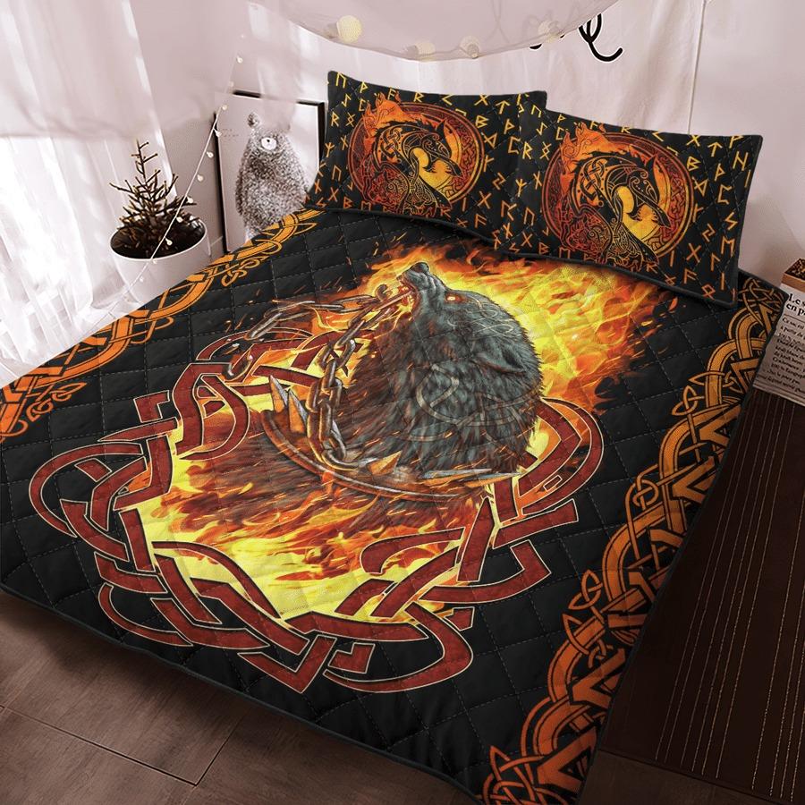 Viking fenrir was bound bedding set4