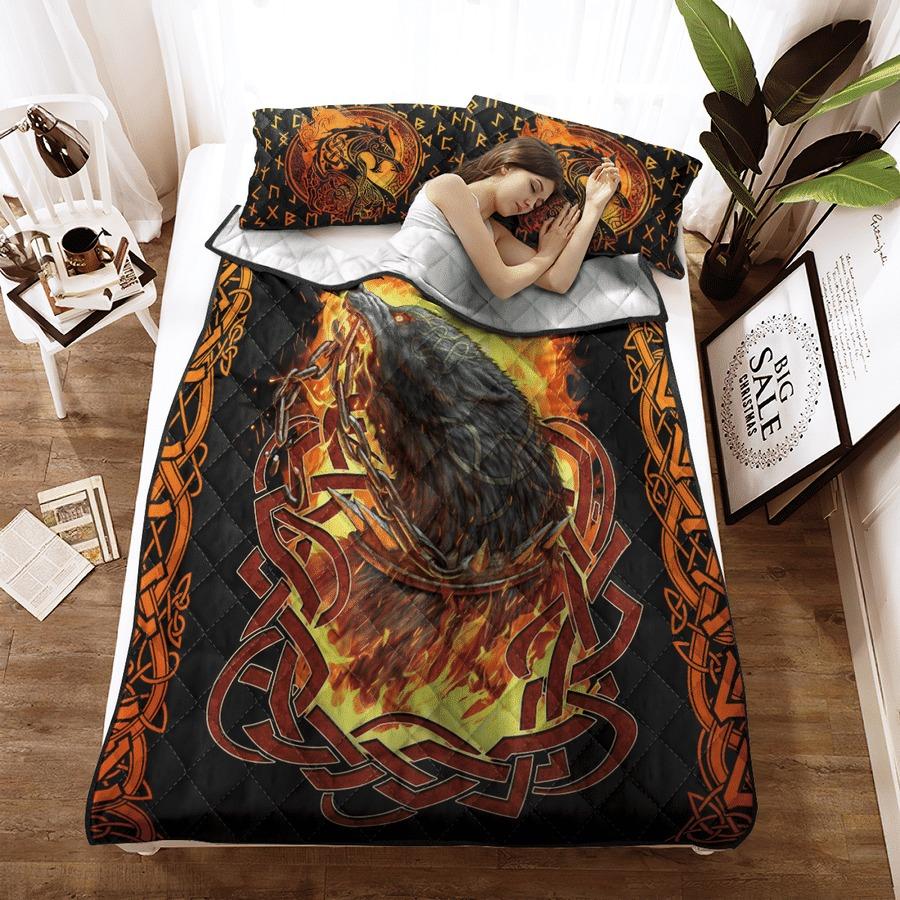 Viking fenrir was bound bedding set2