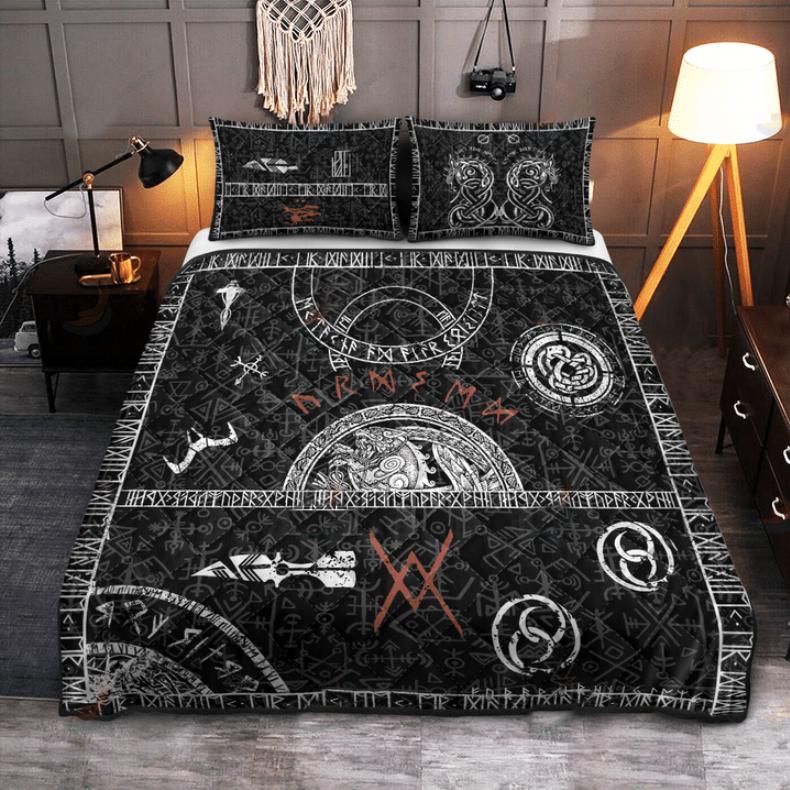 Viking tattoo bedding set3