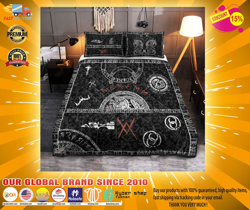 Viking tattoo bedding set4