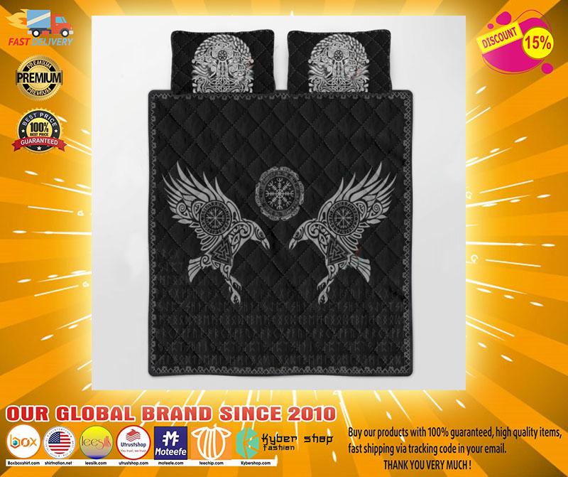 Viking the raven of Odin tattoo bedding set4