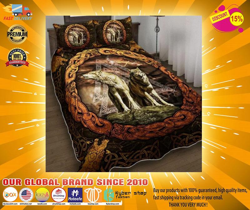 Viking wolf bedding set4