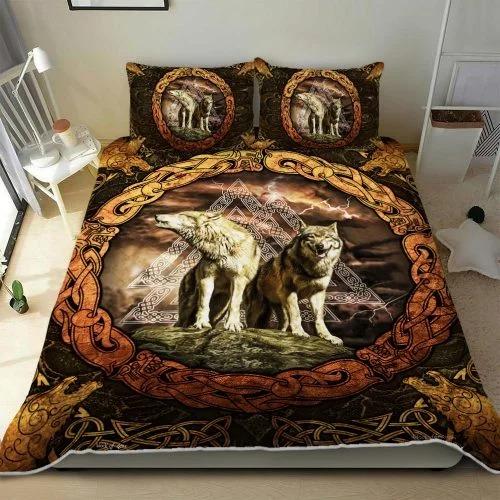 Viking wolf bedding set3