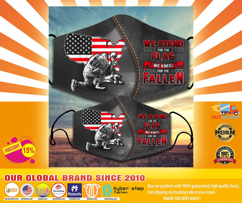 We stand for the flag we kneel for the fallen facemask4