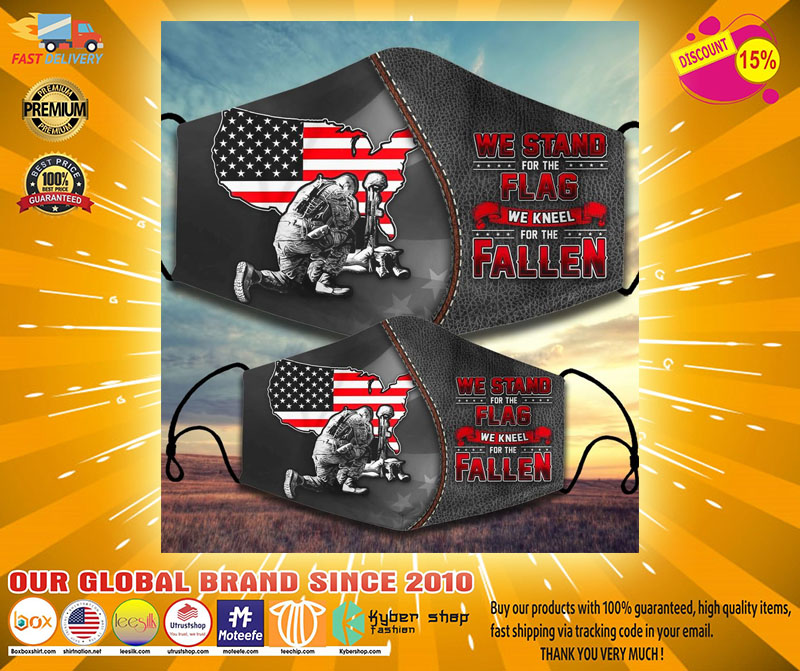 We stand for the flag we kneel for the fallen facemask2