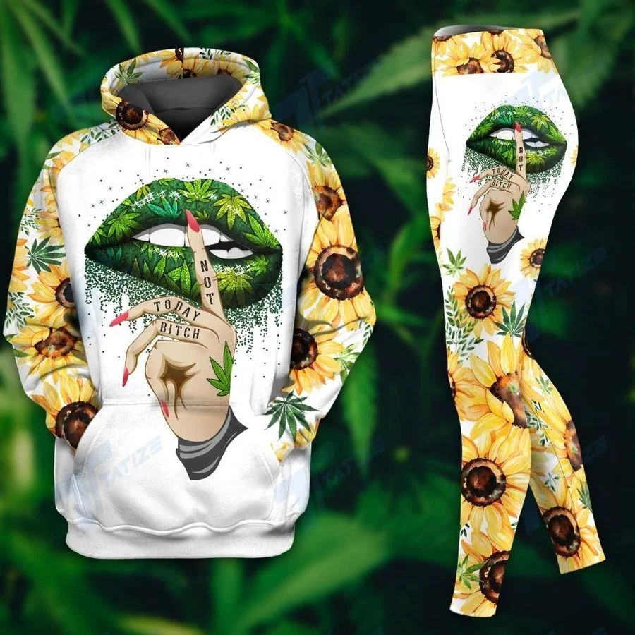 Weed dont care bear not today bitch hoodie and legging3