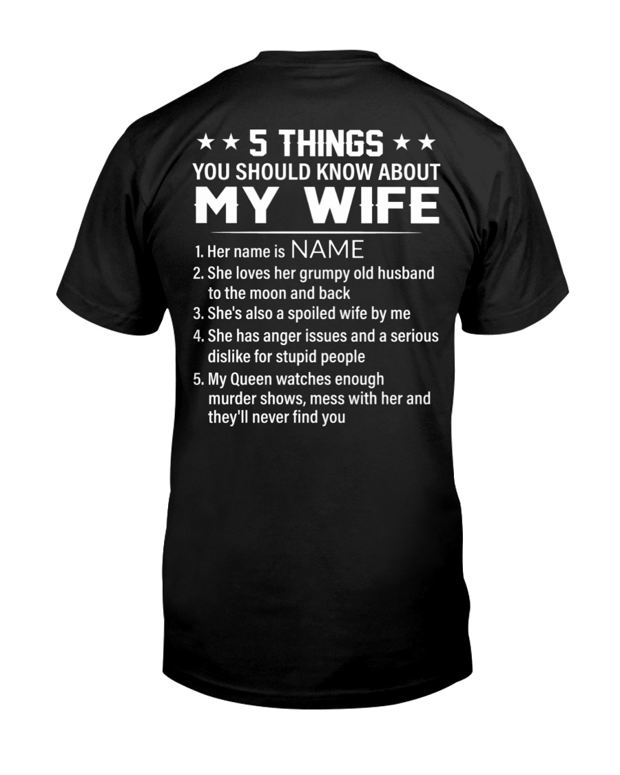 5 Things You Should Know About My Wife Shirt as