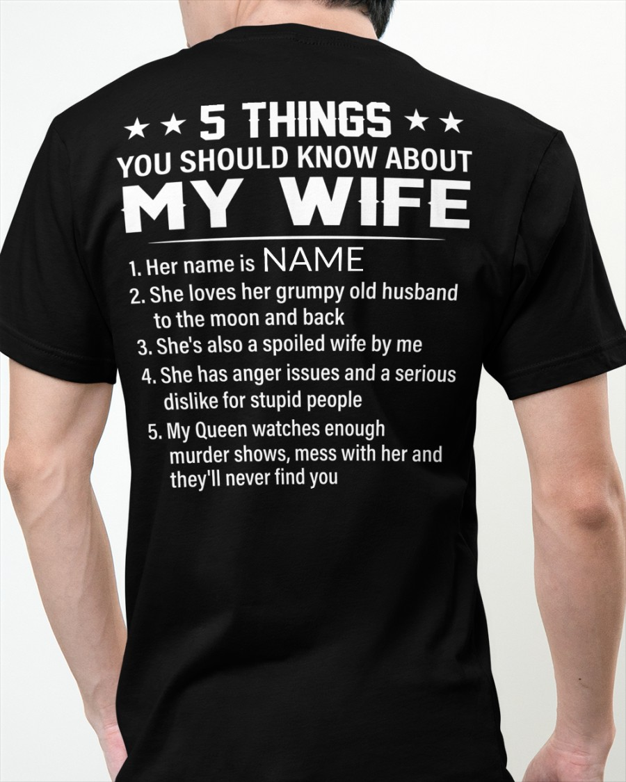 5 Things You Should Know About My Wife Shirt2