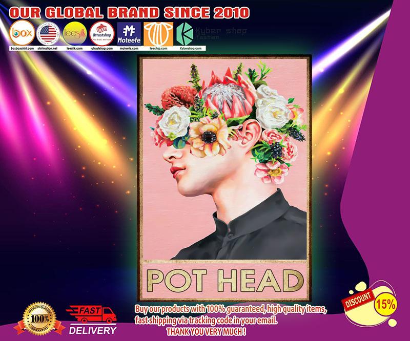 Boy man pot head poster 2
