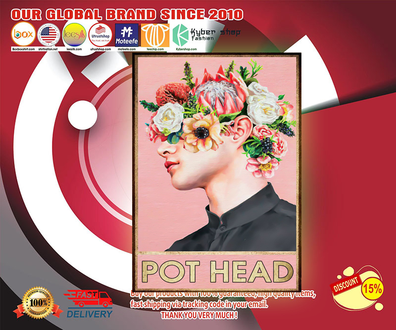 Boy man pot head poster 3